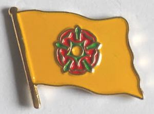 Lancashire County Flag Enamel Pin Badge